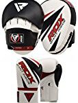 RDX MMA Boxing Pads Punch Target Focus Training Punching Gloves Hook & Jab Thai Strike Kick Shield