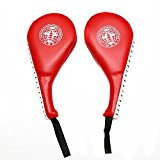 Yafeco Pack of 2 Taekwondo Kicking Target Durable Kick Pad Target Tae Kwon Do Karate Kickboxing Training Practice Kick (red)