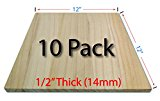 Wood Breaking Boards - 10 Pack - 1/2