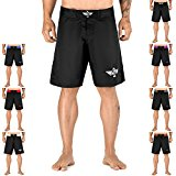 Elite Sports NEW ITEM Black Jack Series Fight Shorts,Premium Black,Medium