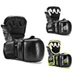Sanabul Essential 7 oz Sparring MMA Gloves (AllBlack, Large/X-Large)