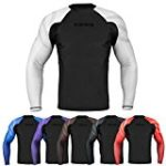 Sanabul Essentials Long Sleeve Compression Base Layer Rash Guard (Medium, White)