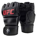 UFC 7oz Grappling/Training Gloves SM/Med – MMA Gloves, Black, Small/Medium
